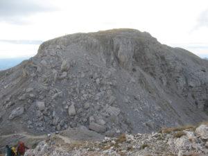Rovine della mina austrica sul Dente Italiano